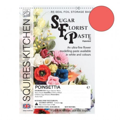 Sugar Florist Paste - Poinsettia 100g.